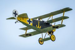 1 dr airshow Dreidecker Fokker Prague Ja Fotografia Royalty Free