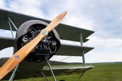 1 dr airshow Dreidecker Fokker Prague Ja Dreidecker trójpłata stojaki na lotnisku Obraz Stock