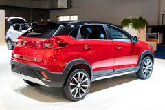DR Automobiles DR3 car. BRUSSELS - JAN 18, 2019: DR Automobiles DR3 car showcased at the 97th Brussels Motor Show 2019 Autosalon royalty free stock photo