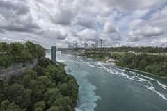 Niagara Falls gorge royalty free stock photo