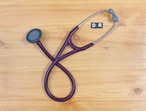 DR cardiologist stethoscope Royalty Free Stock Images
