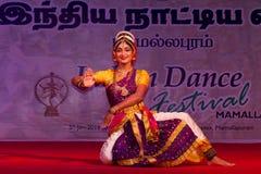 Dr. CH. Ajay Kumar, Vijayawada, Indian dancer. Indian dance festival - 2016 - Mamallapuram. January 14, 2016, Kuchipudin Stock Photography
