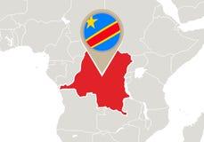 Dr Congo en mapa del mundo