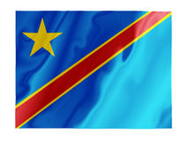 DR Congo fluttering. Fluttering image of the Democratic Republic of Congo national flag Stock Photography