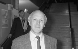 Dr.David Clark. Labour party Member of Parliament for South Shields, visits the party conference in Brighton on October 1, 1991 Stock Images