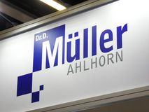 Dr Dietrich MÃ ¼ ller Ahlhorn firmy znak Zdjęcie Royalty Free