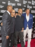 Dr. Dre, Jimmy Iovine, Allen Hughes, and Richard Plepler Stock Photos