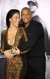 Dr. Dre and Nicole Young Stock Image