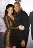 Dr. Dre and Nicole Young Stock Photo