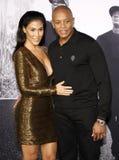 Dr Dre och Nicole Young arkivbild