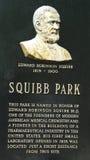 Dr. Edward Squibb memorial at Squibb Park in Brooklyn Stock Photo