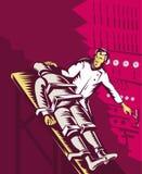 Dr. Frankenstein en zijn monster vector illustratie