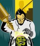 Dr. Frankenstein op het werk Royalty-vrije Stock Foto