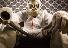 Dr. Gore & Gas mask Royalty Free Stock Image