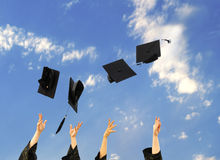 Dr. graduates in the hat to celebrate Royalty Free Stock Image