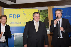 Dr. Heiner Garg, Ekkehard Klug, Sebastian Blumenthal, medlem av Bundestagen fotografering för bildbyråer