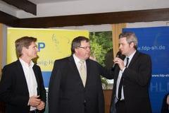 Dr. Heiner Garg, Ekkehard Klug, Sebastian Blumenthal, medlem av Bundestagen royaltyfri fotografi