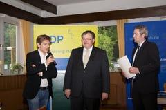 Dr. Heiner Garg, Ekkehard Klug, Sebastian Blumenthal, medlem av Bundestagen arkivbilder