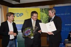 Dr. Heiner Garg, Ekkehard Klug, Sebastian Blumenthal, medlem av Bundestagen arkivfoto