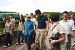 Dr. Jane Goodall in 2010 the Republic of China Tai. Wan to participate in tree planting activities to do, Xi-wei of Taipei County Magistrate Association and Stock Images