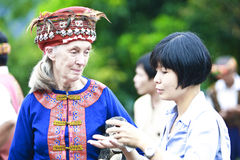 Dr. Jane Goodall Aboriginal wearing apparel 2. Http://www.goodall.org.tw/about_gombe50/gombe50_4.htm Stock Images