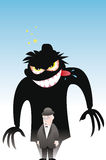 Dr Jekyll and Mr Hyde. The harmless Dr Jekyll casts a shadow of the evil Mr Hyde Stock Photography