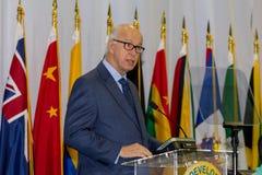 Dr. John Freeman - gouverneur des Turcs et des îles de la Caïques image libre de droits
