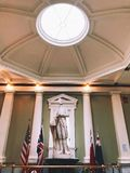 Dr. Joseph Warren Statue inside The Bunker Hill Monument. Tower in in Boston, Massachusetts,United States royalty free stock images