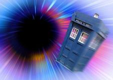 Dr który tardis czarnej dziury vortex fotografia royalty free