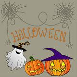 Drôle, gai, fond de Halloween illustration stock