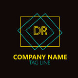 DR Letter Logo Design Photo stock