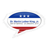 Dr. Martin Luther King Jr. Callout Stock Photography