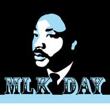 Dr. Martin Luther King, Jr. day. An abstract illustration of a portrait of Dr. Martin Luther King, Jr stock illustration
