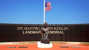 Dr. Martin Luther King Jr Landmark Memorial dans West Palm Beach photographie stock libre de droits