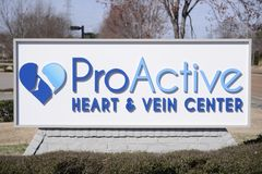 ProActive Heart and Vein Center Marquee. Dr. Michael Nelson and the entire ProActive Heart & Vein Center team are delighted to welcome you to our practice Stock Image