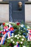 Dr Milada Horakova pomnik przy Slavin, Krajowy cmentarz, Vyseh Zdjęcia Royalty Free
