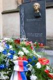 Dr Milada Horakova pomnik przy Slavin, Krajowy cmentarz, Vyseh Zdjęcie Stock