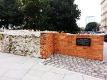 Dr. Mur de mémorial de Balthasar Hubmaier Photos libres de droits