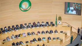 Dr. Nkosazana Dlamini-Zuma levererar ett anförande Royaltyfria Foton