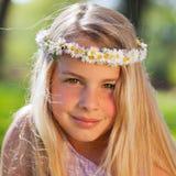 dröm- flickasommar Royaltyfri Foto