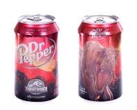 Dr. Pepper Jurassic World-Uitgave stock fotografie