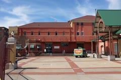 Dr. Pepper Museum et entrée d'institut de libre entreprise Photos libres de droits