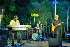 Dr Pickup playing at Vic Sur Cere 15 July 2014 Stock Photos