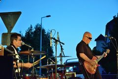 Dr Pickup playing at Vic Sur Cere 15 July 2014 Royalty Free Stock Image