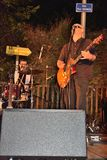 Dr Pickup playing at Vic Sur Cere 15 July 2014 Royalty Free Stock Photos