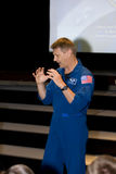 Dr Piers Sellers, Earth Scientist and NASA Astrona. Ut talking to Rocky Mountain High School students during Colorado Global Climate Conference,Fort Collins Royalty Free Stock Photos