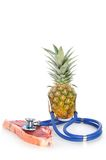 Dr. pineapple. Have meat inspection royalty free stock photos