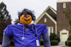 The Dr. Pumpkin. It is a pumpkin doctor Royalty Free Stock Photo