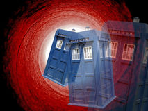 Dr. qui vortex de tardis photo libre de droits