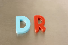 Dr spelled out Stock Photos